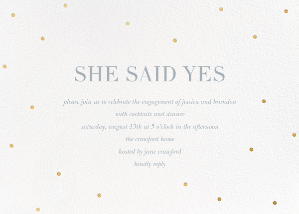 Scattered Dots (Horizontal) - Sugar Paper - Engagement party
