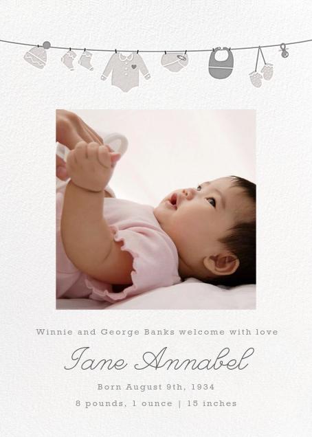 Onesie Photo (Photo) - Gray - Paperless Post - Birth