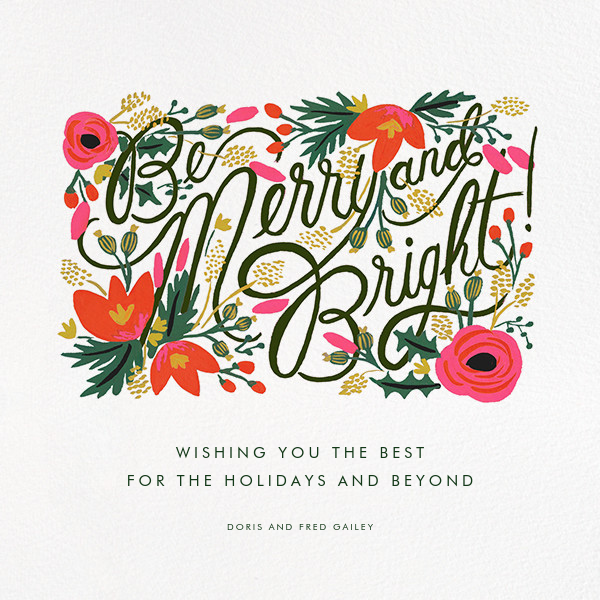 Merry, Bright, and Blooming - Rifle Paper Co. - Christmas