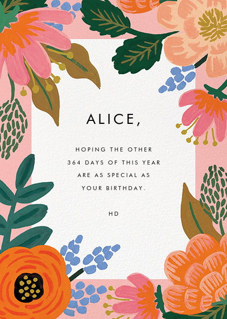 Bordeaux Birthday - Rifle Paper Co. - Birthday - card back