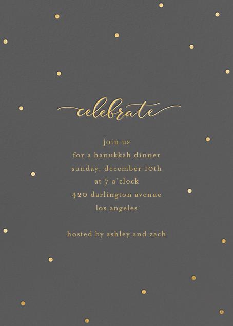 Celebration Dots - Charcoal/Gold - Sugar Paper - Hanukkah