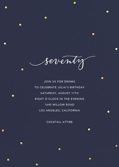Milestone Dots (Seventy) - Navy - Sugar Paper - Adult birthday