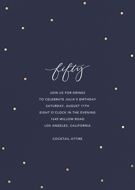 Milestone Dots (Fifty) - Navy - Sugar Paper - Adult birthday