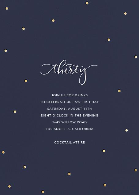 Milestone Dots (Thirty) - Navy - Sugar Paper - Adult birthday