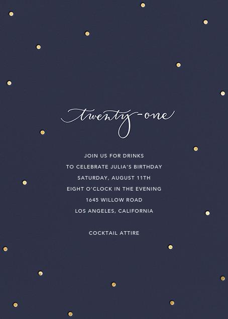 Milestone Dots (Twenty-One) - Navy - Sugar Paper - Adult birthday