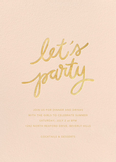 Party Script (Tall) - Pink - Sugar Paper - General entertaining