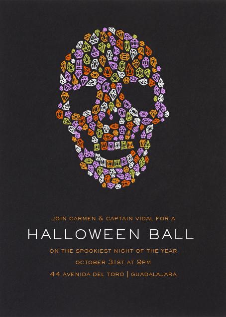 Diamond Skull - Paperless Post - Halloween