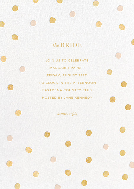 Painted Spots - Gold/Pink - Sugar Paper - Bridal shower