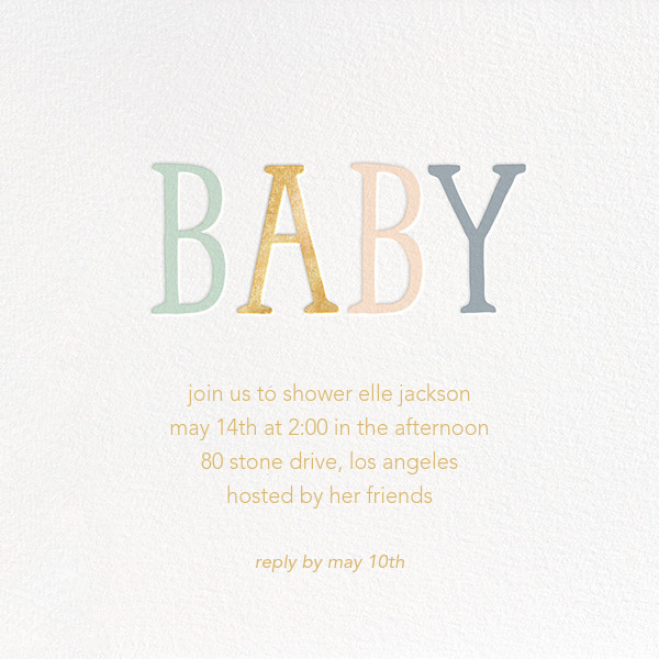 Bright Baby - Sugar Paper - Baby shower