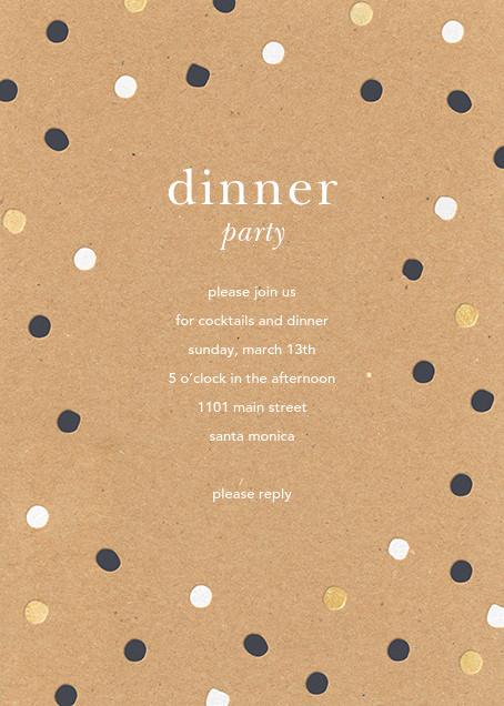 Painted Spots - Kraft - Sugar Paper - Dinner party