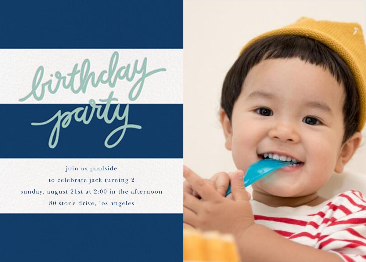 Cabana Birthday (Photo) - Dark Blue - Sugar Paper - Kids' birthday