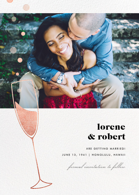 Champagne Bubbles (Photo) - Rose Gold - Paperless Post - Photo