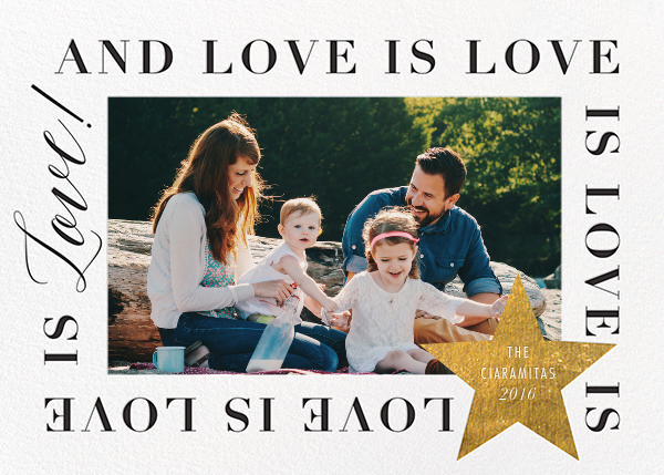 Love Is Love Is Love (Horizontal) - Gold - Cheree Berry Paper & Design