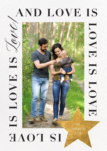 Love Is Love Is Love (Tall) - Gold - Cheree Berry Paper & Design