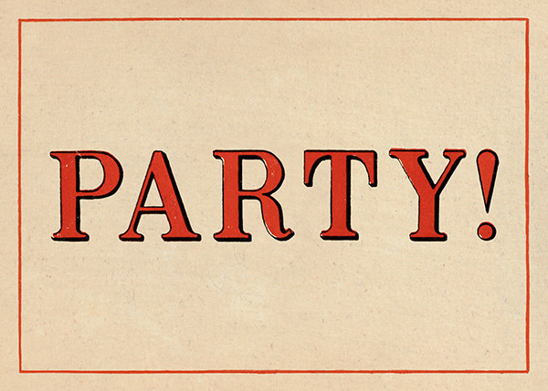 Red Letter Party (Invitation) - John Derian - Anniversary party