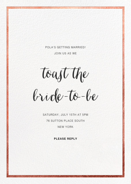 Idylle - White/Rose Gold - Paperless Post - Bridal shower