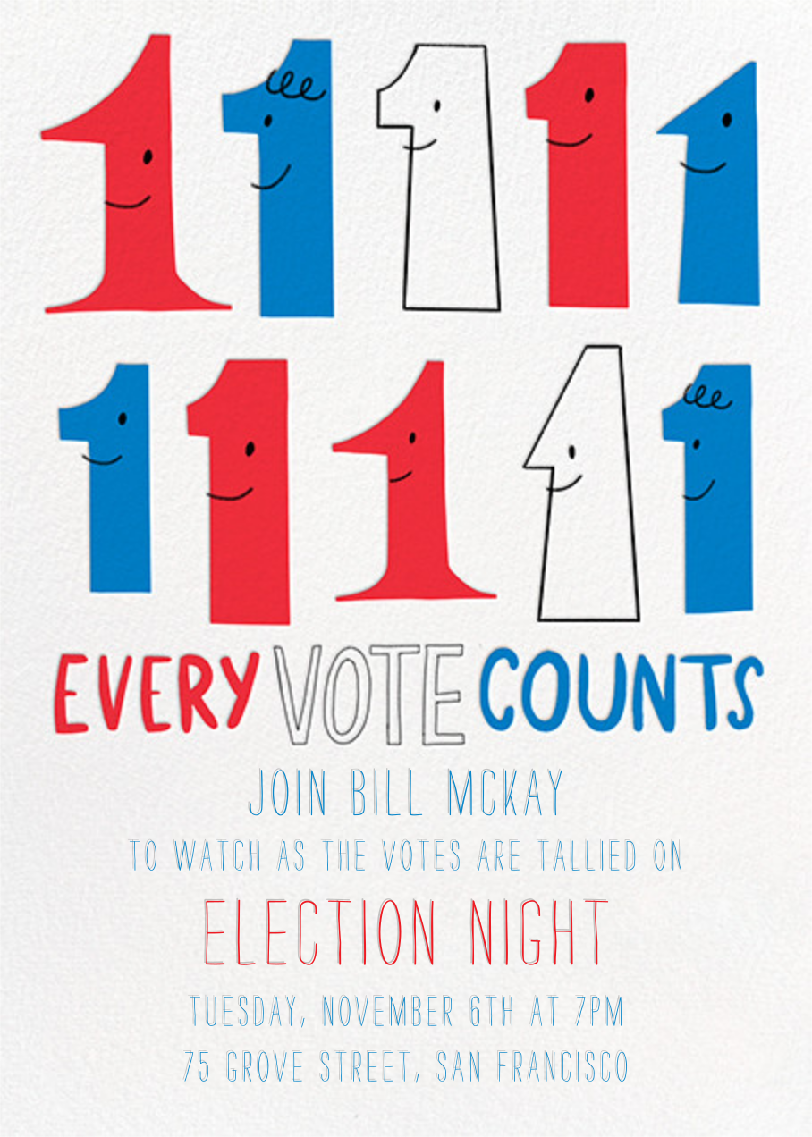 Every Vote Counts - Hello!Lucky - Election night