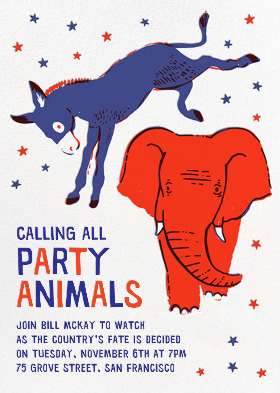 Donkey V. Elephant - Hello!Lucky - Election night