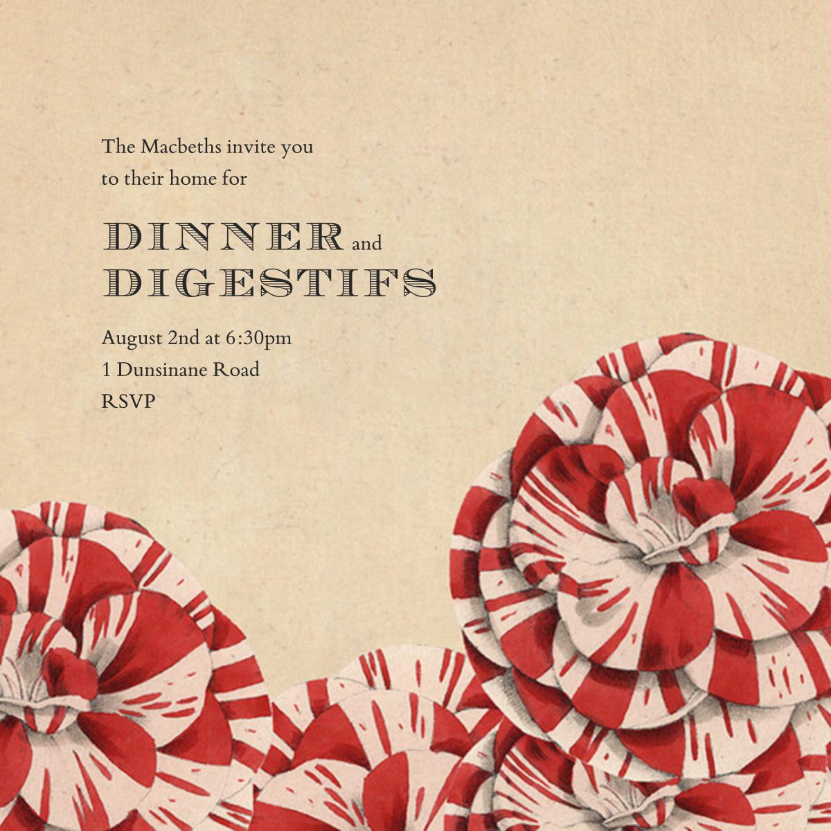 Striped Carnations - John Derian - Dinner party