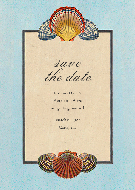 Scallop Medallion (Save the Date) - John Derian - Party save the dates