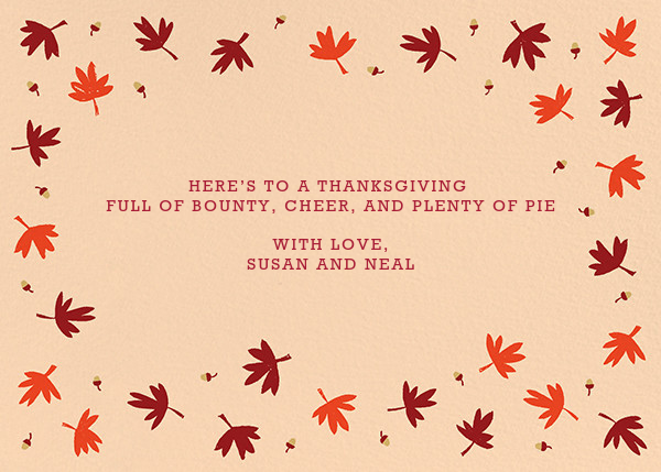 Ever Thankful - Paperless Post - Thanksgiving - card back