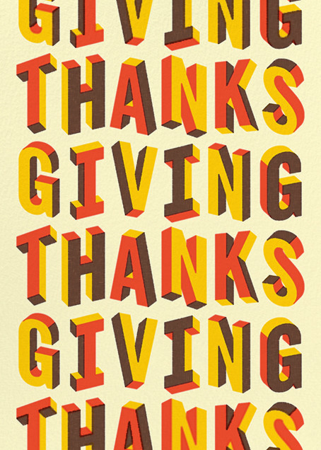 Letters of Thanks (Greeting) - Paperless Post - Thanksgiving