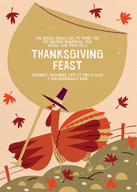 Fowl Weather (Invitation) - Paperless Post - Thanksgiving