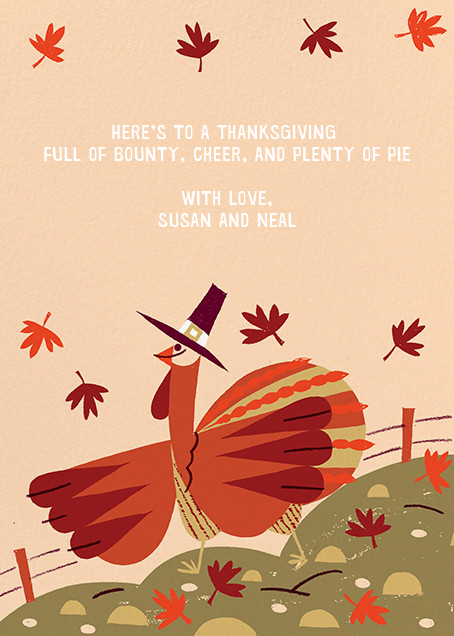 Fowl Weather (Greeting) - Paperless Post - Thanksgiving - card back