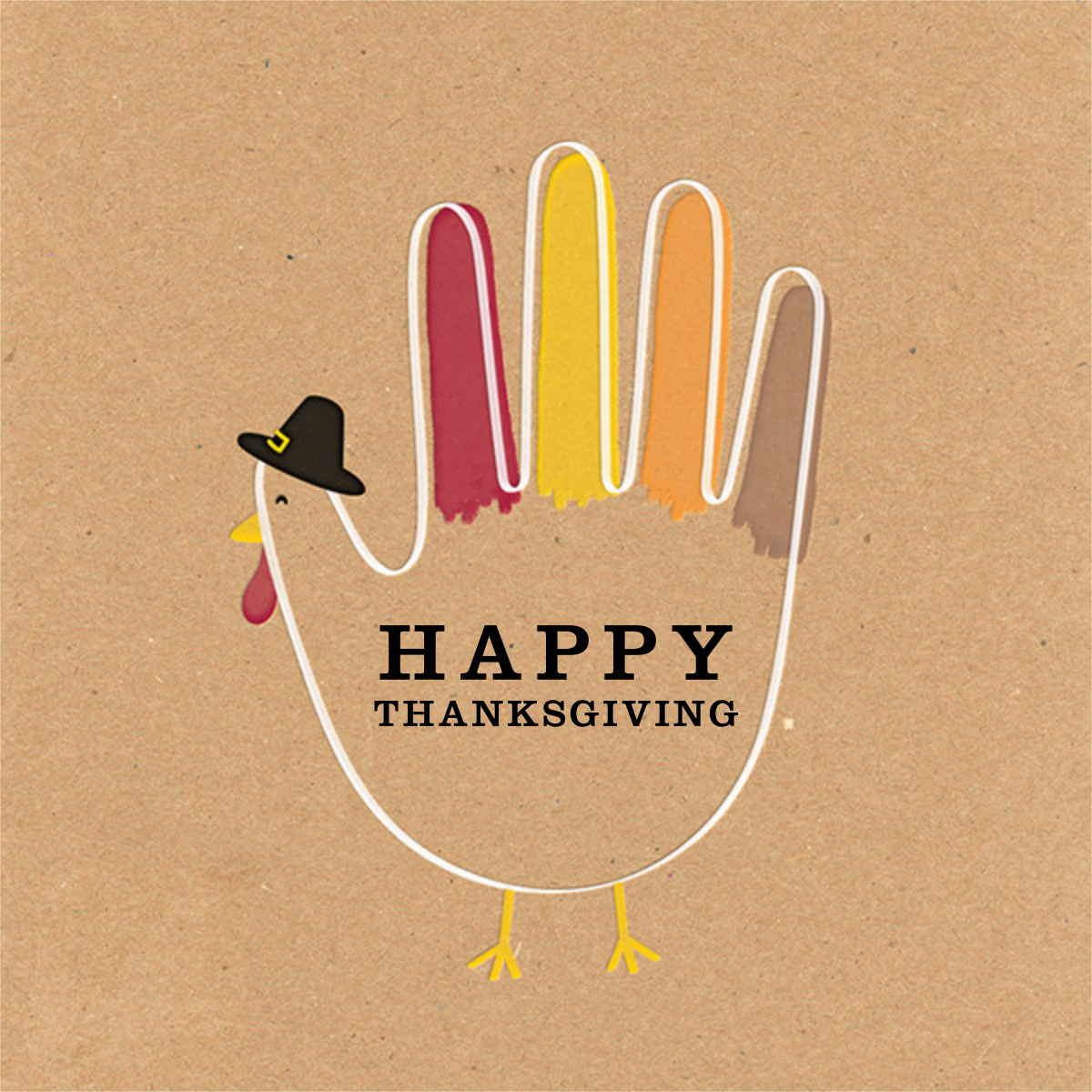Hand Turkey (Greeting) - Paperless Post - Thanksgiving