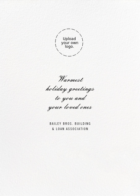 Arrangement in Red - Paperless Post - Use your own logo - card back