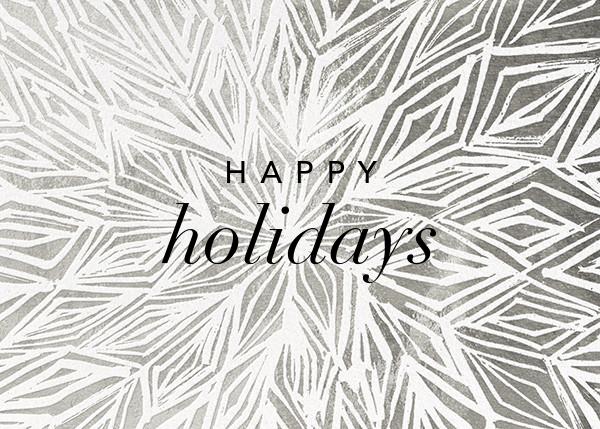 Stellar (Greeting) - Silver - Kelly Wearstler - Holiday cards