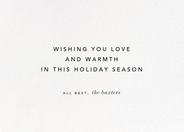 Stellar (Greeting) - Silver - Kelly Wearstler - Holiday cards - card back