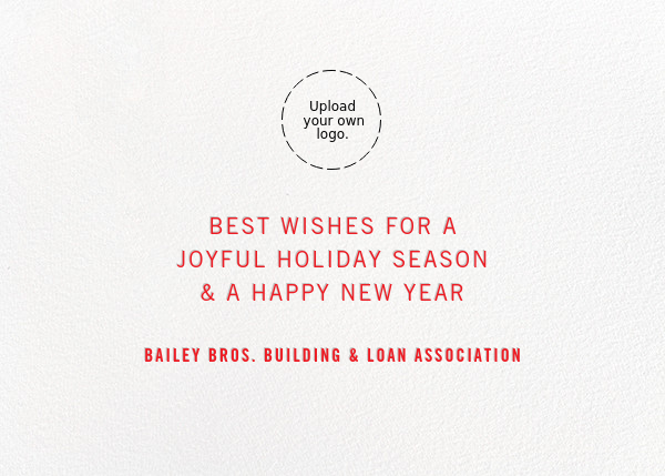 Signature Holiday - Silver - Paperless Post - Use your own logo - card back