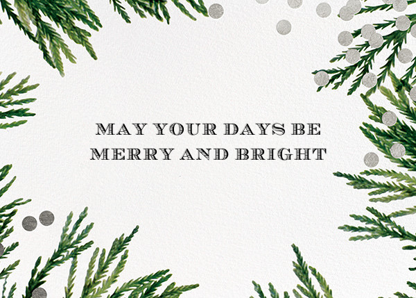 Confetti Branches (Greeting) - Silver - kate spade new york - Holiday cards