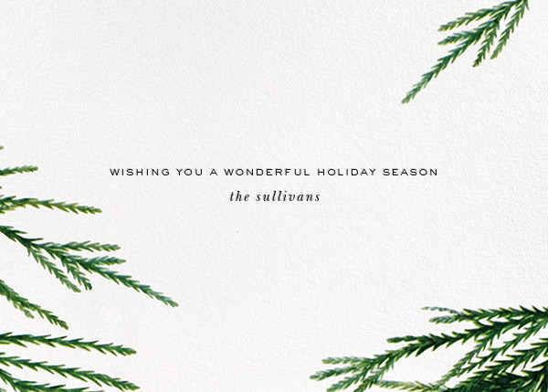 Confetti Branches (Greeting) - Silver - kate spade new york - Holiday cards - card back