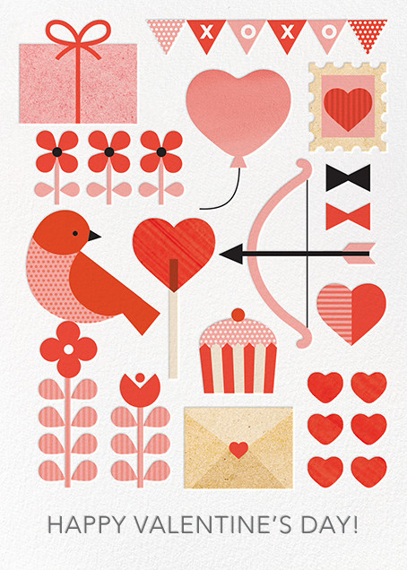 Valentine Parade - Petit Collage - Valentine's Day