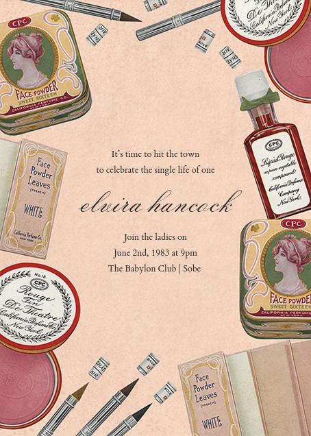 Classic Cosmetics - John Derian - Bachelorette party