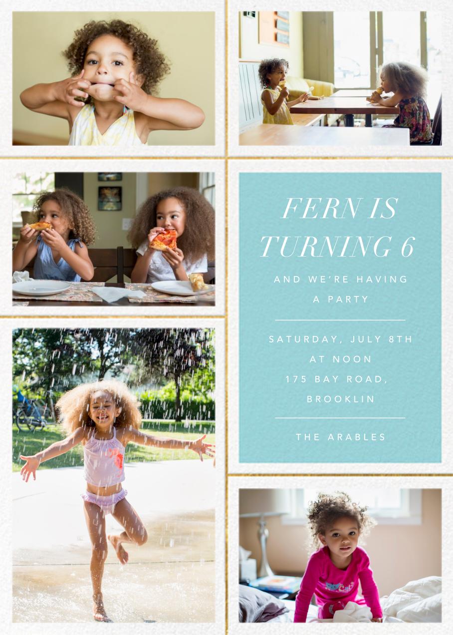 Quint - Caribbean/Gold - Paperless Post - Kids' birthday