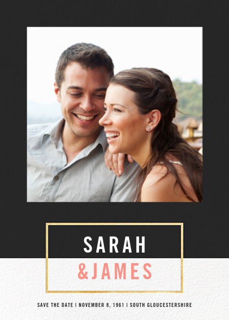 Bright and Bold (Save the Date) - Caviar/Gold - Paperless Post - Photo