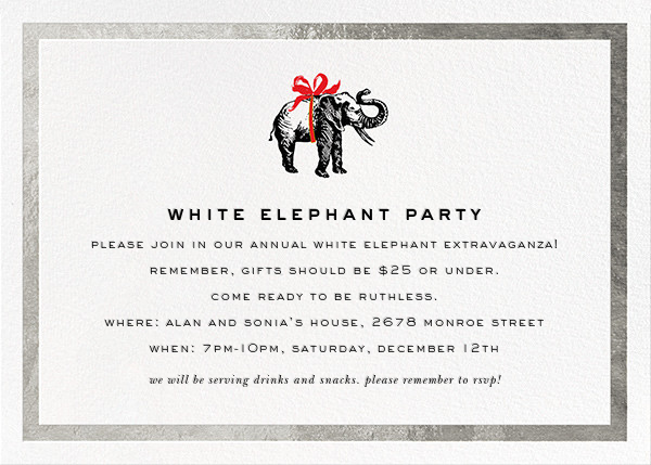 Wrapped Elephant - Silver - kate spade new york - Holiday party