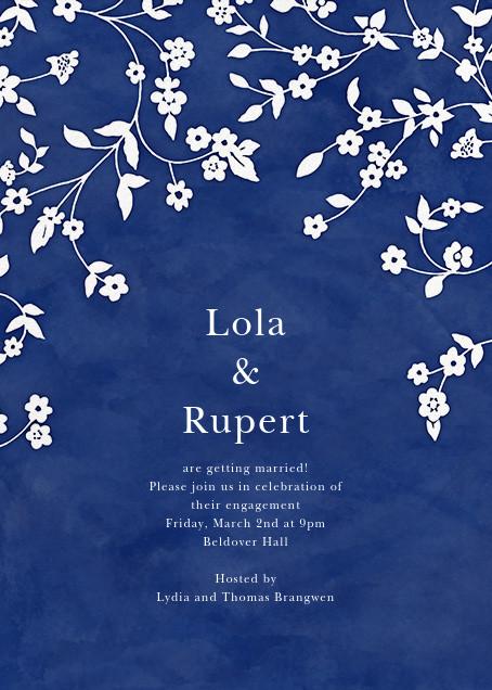 Floral Trellis II - Blue/White - Oscar de la Renta - Engagement party