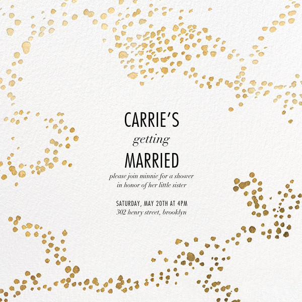 Evoke (Square) - White/Gold - Kelly Wearstler - Bridal shower
