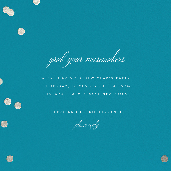 Holepunch - Teal - Paperless Post - New Year's Eve