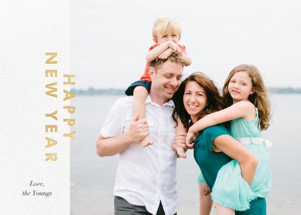 New Year Cutouts (Horizontal Inset) - Gold - Paperless Post