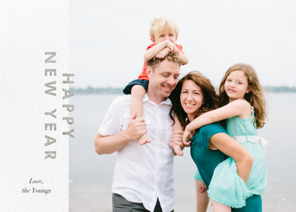 New Year Cutouts (Horizontal Inset) - Silver - Paperless Post