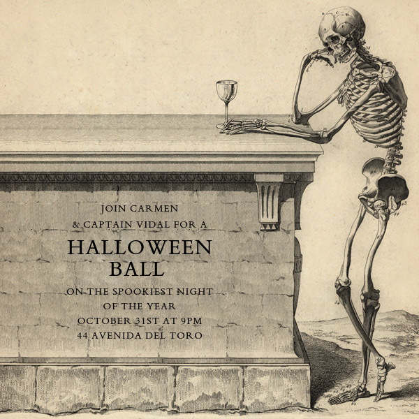 Skeleton with Drink - John Derian - Halloween
