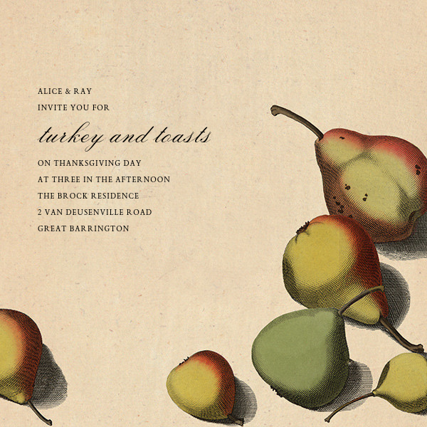 Pear Arrangement - John Derian - Autumn entertaining