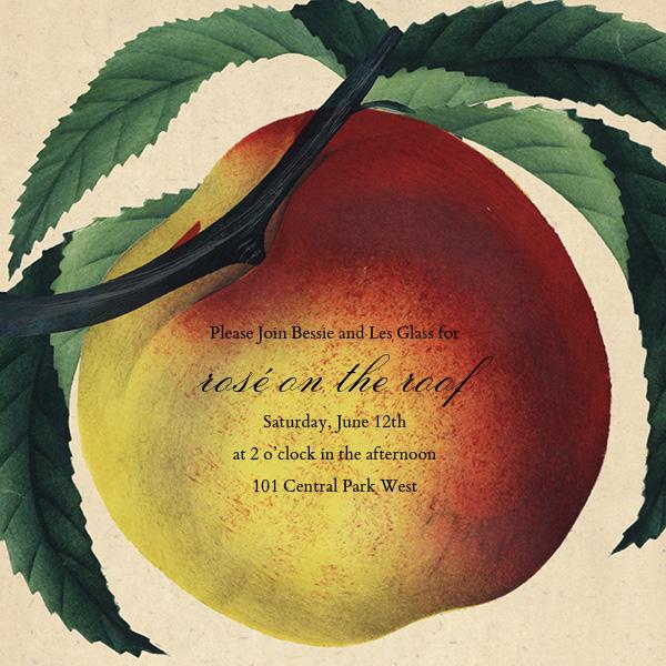 Large Peach - John Derian - Dinner party