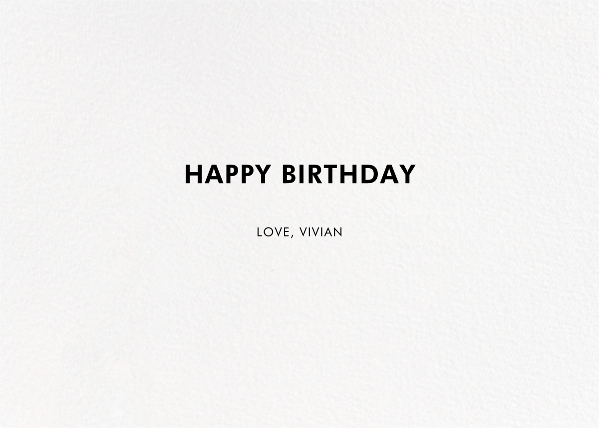 Fortune - kate spade new york - Birthday - card back