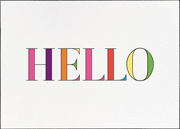 Rainbow Hello - kate spade new york - Thinking of you